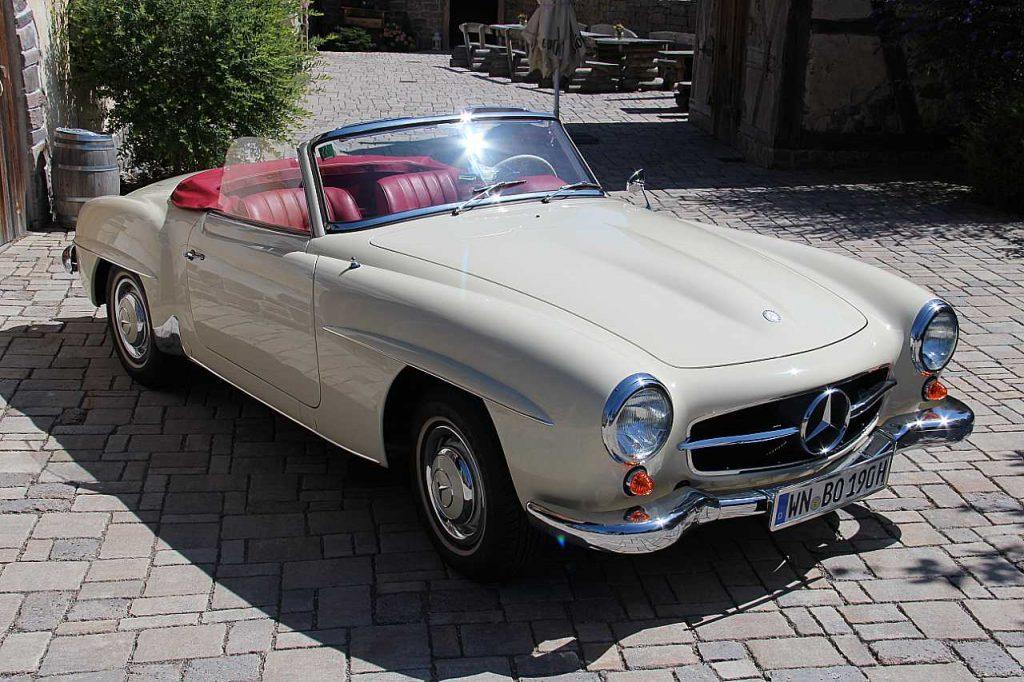 Oldtimer Erlebnis Mercedes Benz SL 190 Blogbild 1