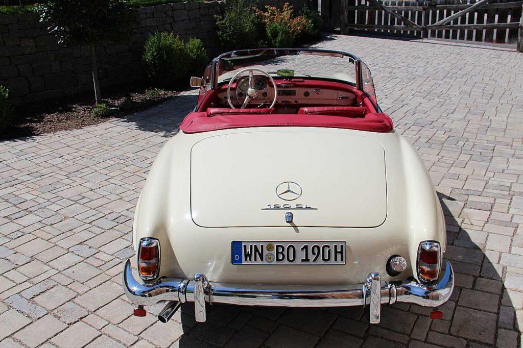 Oldtimer Erlebnis Mercedes Benz SL 190 Blogbild 3