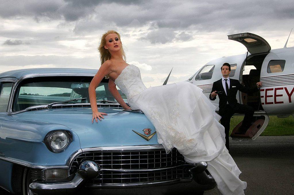 Oldtimer Erlebnis Hochzeit Shooting