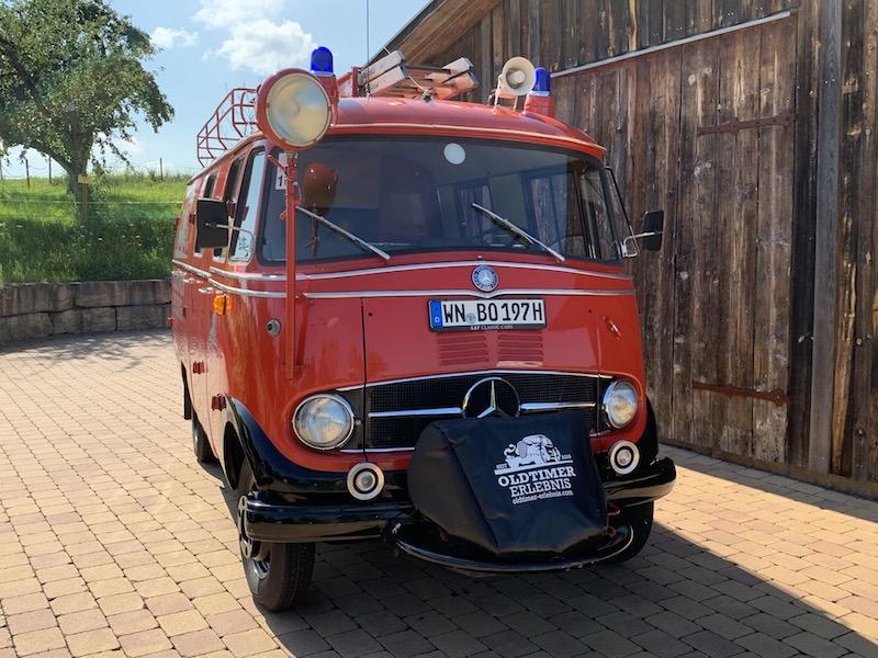 Oldtimer Erlebnis Mercedes L319 Feuerwehr Oldtimer LF407 Bus 9 Sitze Löschfahrzeug 1