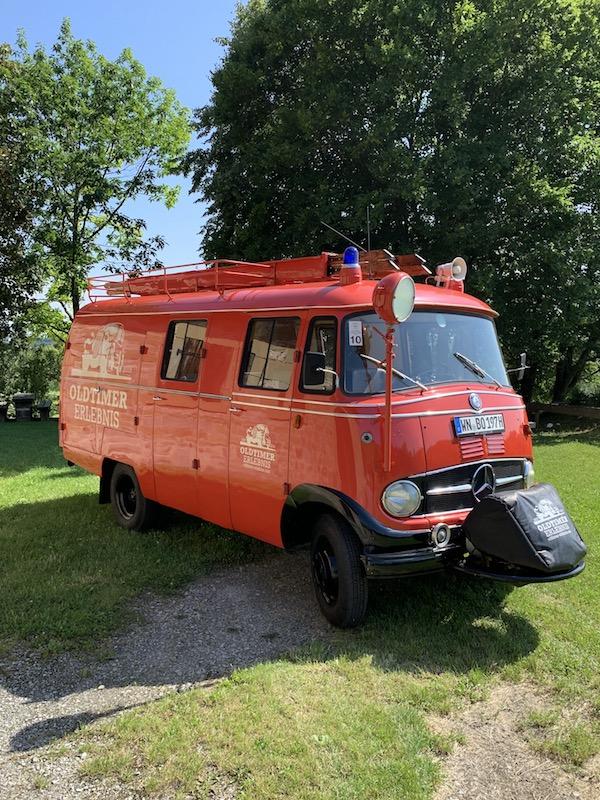 Oldtimer Erlebnis Mercedes L319 Feuerwehr Oldtimer LF407 Bus 9 Sitze Löschfahrzeug 2