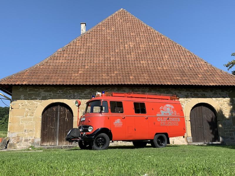 Oldtimer Erlebnis Mercedes L319 Feuerwehr Oldtimer LF407 Bus 9 Sitze Löschfahrzeug